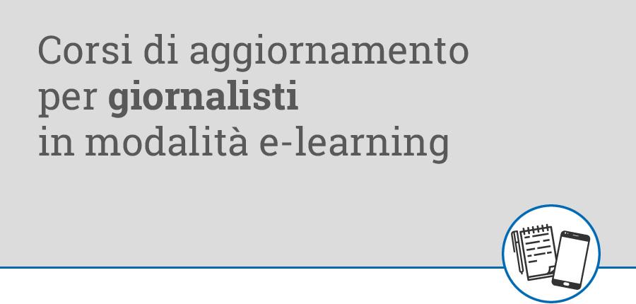 Corsi e-learning per giornalisti
